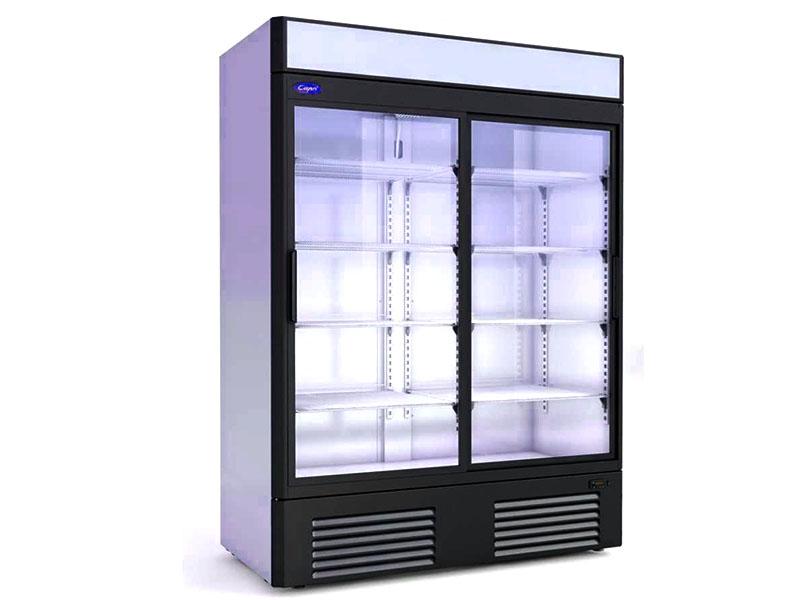 Холодильный шкаф, оснащенный прозрачной дверью